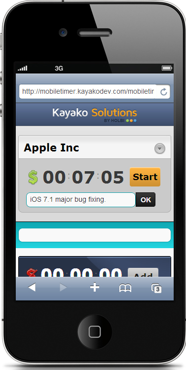 Mobile Timer for Kayako helpdesk